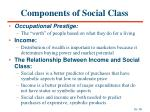 components of social class