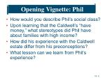 opening vignette phil