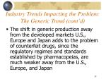 industry trends impacting the problem the generic trend cont d