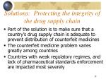 solutions protecting the integrity of the drug supply chain