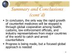 summary and conclusions cont d