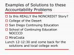examples of solutions to these accountability problems