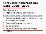 miracosta noncredit esl data 2008 200956