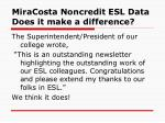 miracosta noncredit esl data does it make a difference