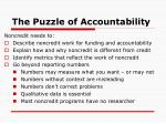 the puzzle of accountability