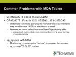 common problems with mda tables37