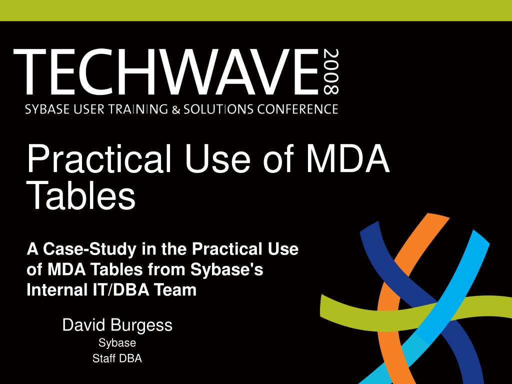 practical use of mda tables l.