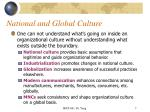 national and global culture7