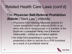 related health care laws cont d12