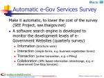 automatic e gov services survey