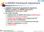 e asean framework agreement