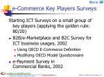 e commerce key players surveys