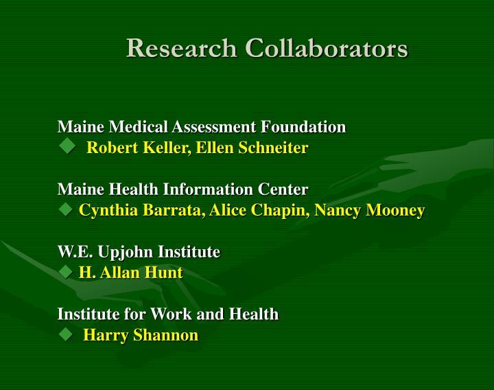 Research collaborators