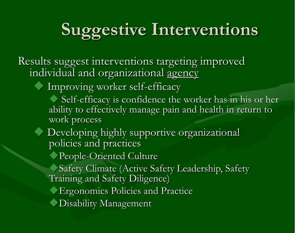 Suggestive Interventions