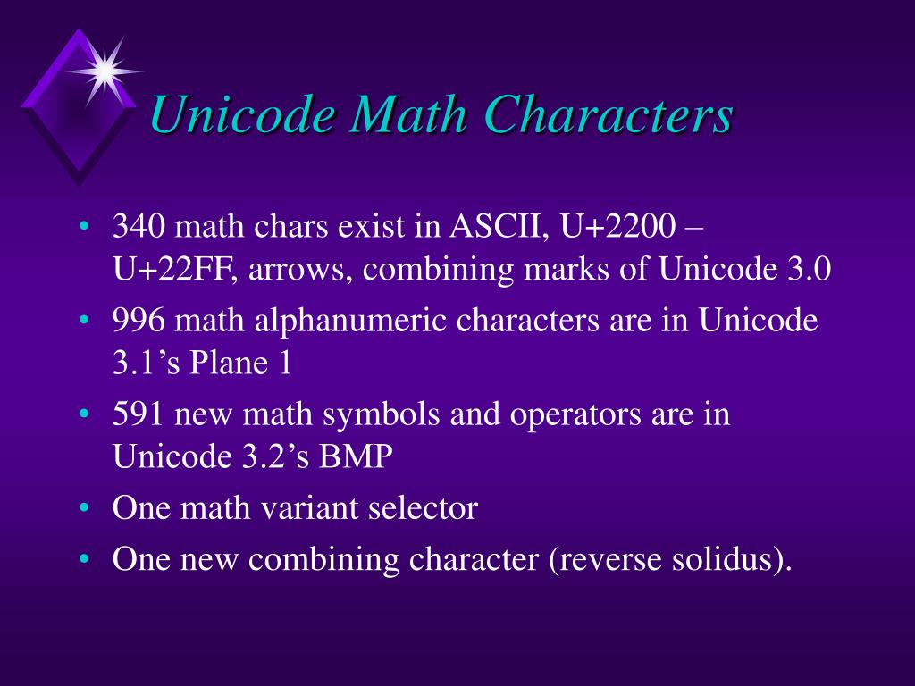 PPT - Unicode Support for Mathematics PowerPoint