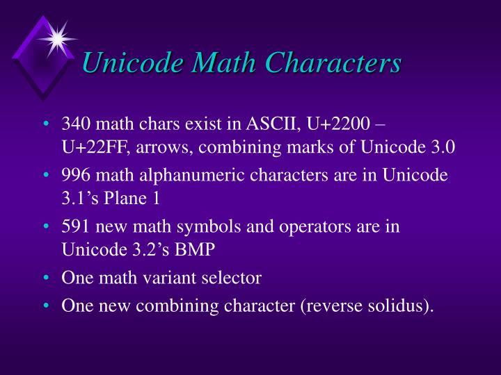 Ppt Unicode Support For Mathematics Powerpoint Presentation Id