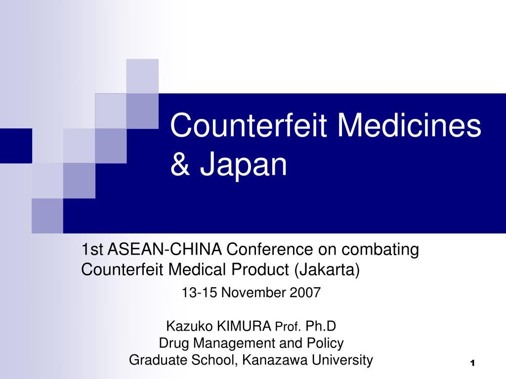 counterfeit medicines japan l.