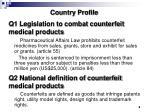 q1 legislation to combat counterfeit medical products