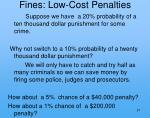 fines low cost penalties