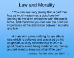 law and morality