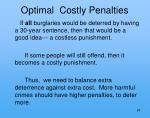 optimal costly penalties