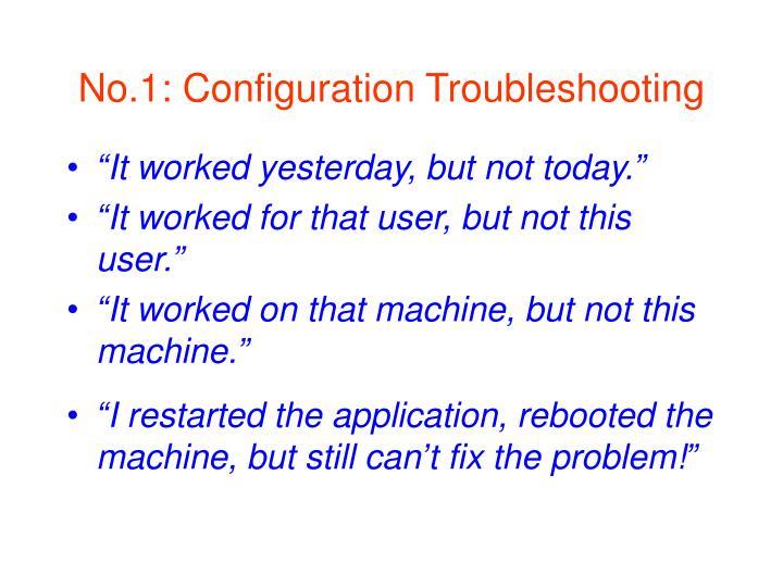 No.1: Configuration Troubleshooting
