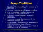 seven traditions