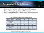 environment definitions