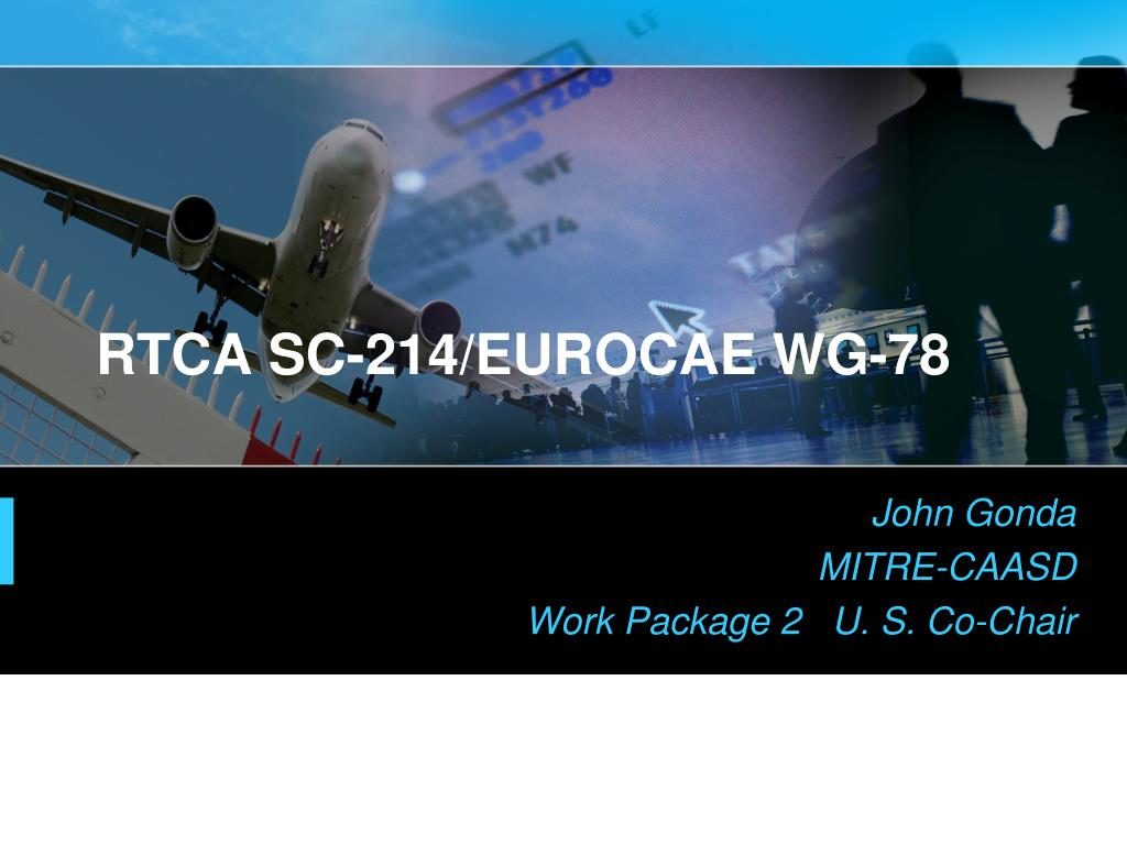 rtca sc 214 eurocae wg 78 l.