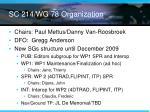 sc 214 wg 78 organization