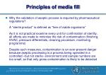 principles of media fill