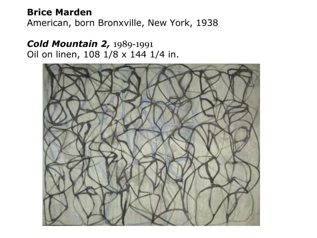 Brice Marden
