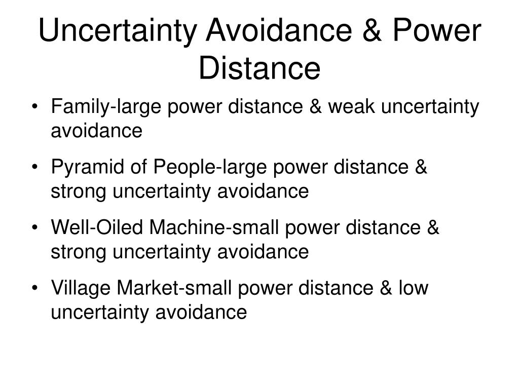 Uncertainty Avoidance & Power Distance