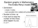 random graphs in mathematics the erd s r nyi model