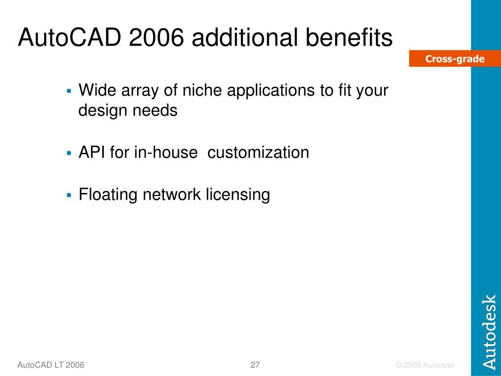 AutoCAD 2006 additional benefits