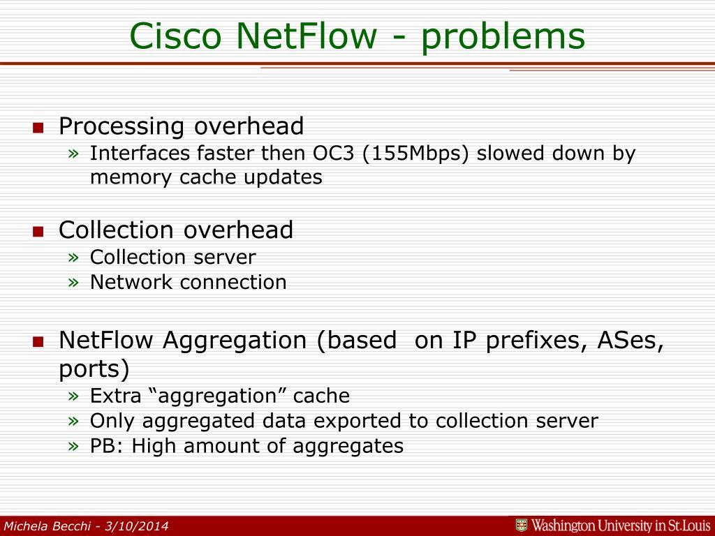 Cisco NetFlow - problems