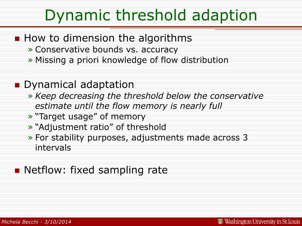 Dynamic threshold adaption