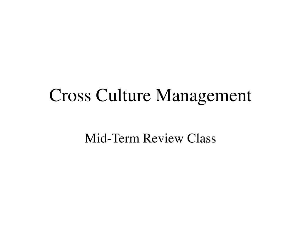 cross culture management l.