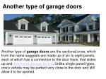 another type of garage doors