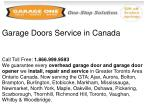 garage doors service in canada