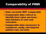 comparability of prmi