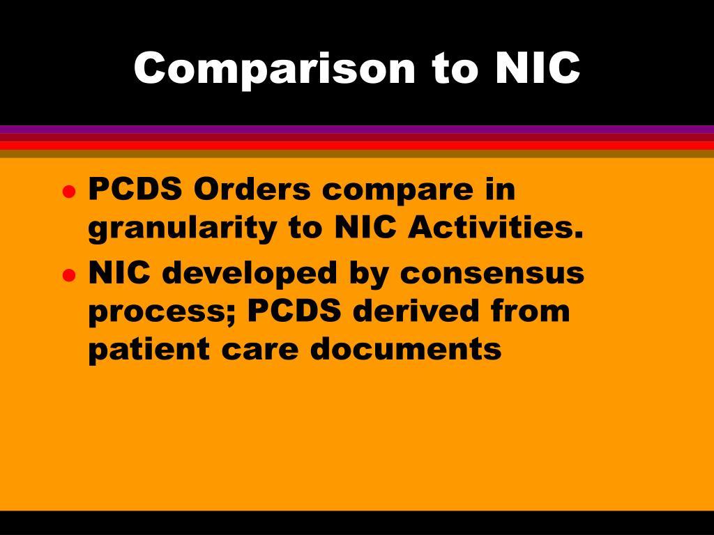 Comparison to NIC