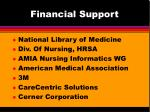 financial support