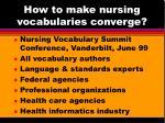 how to make nursing vocabularies converge