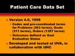 patient care data set