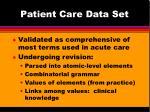 patient care data set14