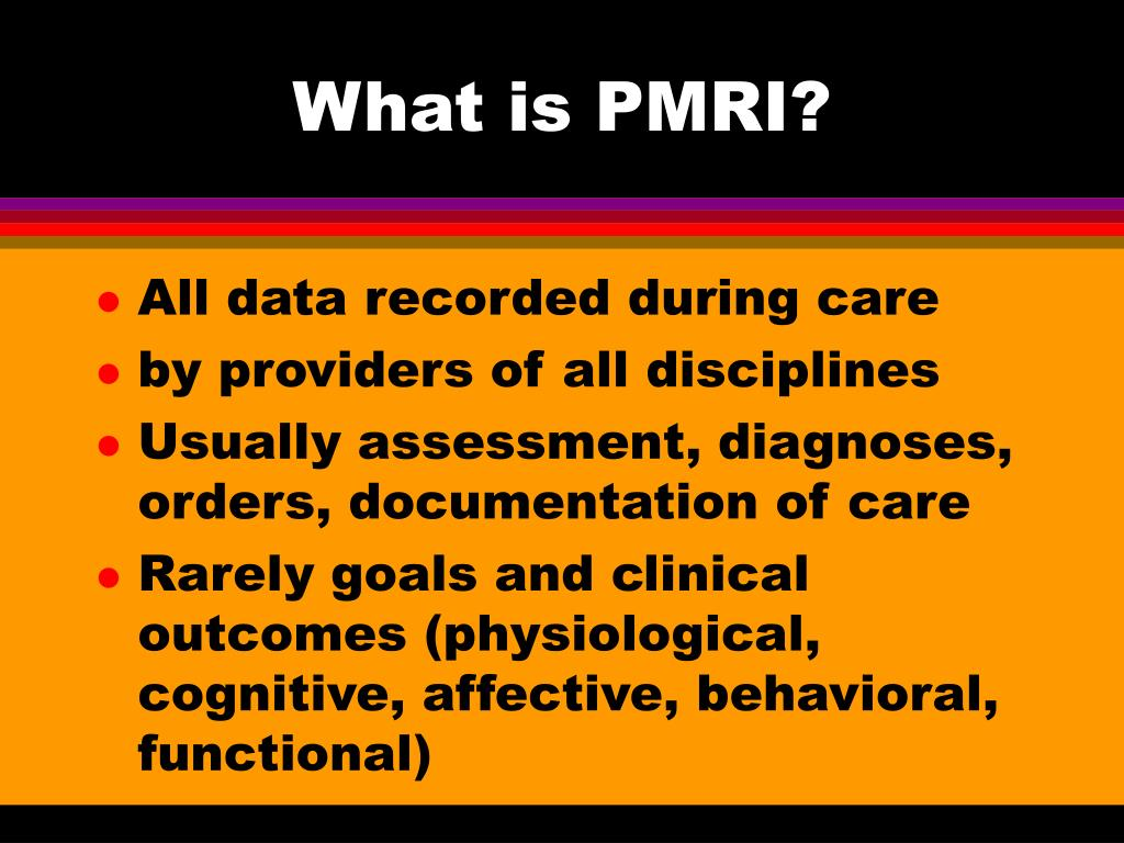 What is PMRI?