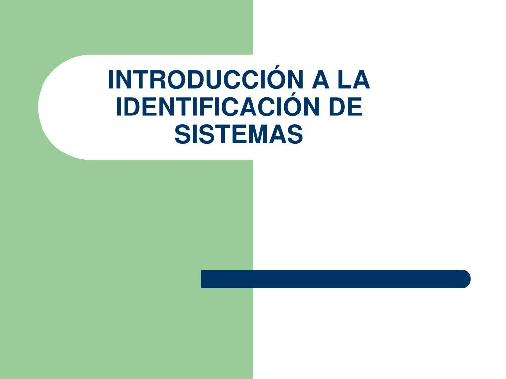 introducci n a la identificaci n de sistemas l.