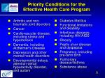 priority conditions for the effective health care program