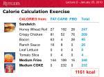 calorie calculation exercise2